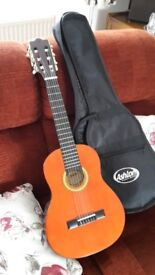 CHILD SIZE GUITAR - ASHTON CLASSICAL + CASE . SUIT 3-6 YEARS
