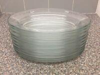 Oval glass plates