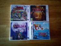 Nintendo Legend of Zelda Majoras Mask, Triforce Heroes, A Link Between Worlds, Phantom Hourglass 3DS