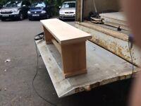 Beech bench.
