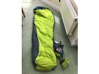 Blacks Aerolite 1000 sleeping bag and compression bag