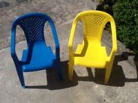 2 x child chairs