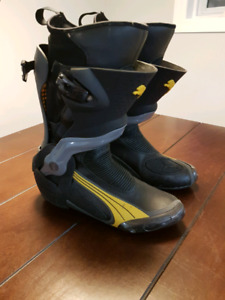 Puma motorcycle riding boots.