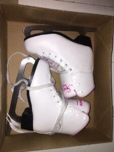 Patins artistiques filles soft skate Jackson blancs gr.1