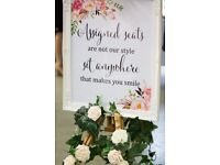 Wedding sign and easel £30
