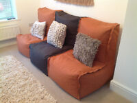 Modular beanbag lounger couch (bought from Next)