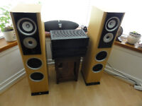 TDL Studio 10 with Kenwood Amp and Yamaha Cd player Loud and Clear Perfect working Order