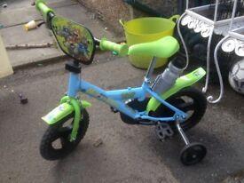 Kids bike with stabilisers Teenage Ninja Turtles