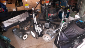 10 sets golf clubs 6 exstra bags 6 caddys