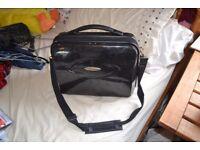 black glittery suitcase bag/ laptop bag/ day trip bag