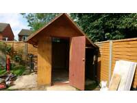 Steel and Wood Garden Shed