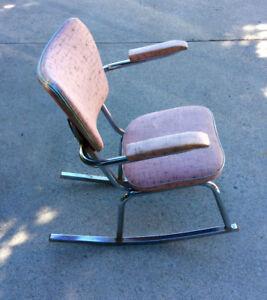 Rare 1950's chrome rocking chair