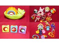 Fisher Price Croc, balls, Animal Forest playmat toys and others
