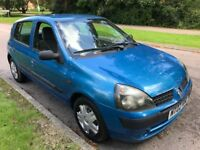 Renault Clio Authentique 1149cc Petrol 5 speed Manual 5 door hatchback 02 Plate 28/06/2002 Blue