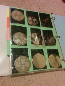 132 nail stamping plates collection with applicator.