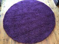 1. Circular rug, 133 cms diameter.. 2. Rectangular rug, 150 x 80 cms,