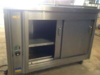 Hotcupboard mobile stainless steel
