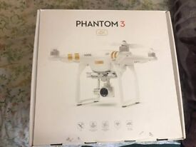 DJI PHANTOM 3 4K BOXED FLOWN APPROX 11 TIMES VGC RECEIPT INCLUDED, OFFERS CONSIDERED.