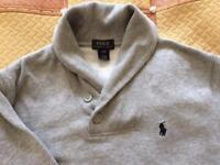 Ralph Lauren shawl collar jumper age 8