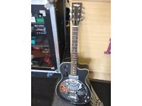 used vintage electro resonator with pickup and cutaway
