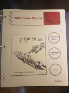 CUTNELL 10TH ED. TEXTBOOK- PHYS 1020/1030