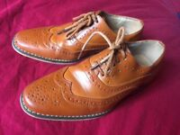 Boys brown leather shoes size 13
