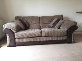 DFS leather and fabric sofa.