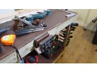 """Workbench with 6"""" woodworking vice"""