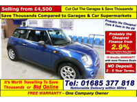 MINI ONE 1.6 PETROL 3 DOOR HATCHBACK (GUIDE PRICE)