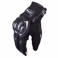 Motorcycle Gloves with protection + touch screen finger NEW m