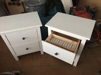 2 Ikea Hemnes bedside tables