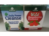slimming tablets wild raspberry ketone 60 capsules and daily power cleanse 60 capsules