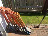 12No Insulated Shovels and 1No Fibreglass Pick For Sale