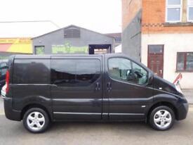 NO VAT! Vauxhall Vivaro 2.0CDTi Sportive SWB 6 seat factory fitted crew vans (7)