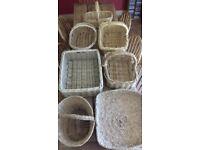 Wicker / Rattan baskets. In excellent condition. Price per basket. £5