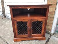 Jali Sheesham Solid Indian Wood Tv Unit Corner Table