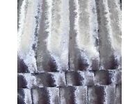 Stunning Crushed velvet silver curtains from Kylie range 66 X 54 inch (167X 137cm)