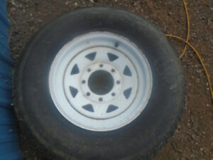 trailor  rim and tire