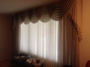 Beautiful drapes with vertical blinds