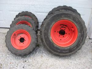 pneus et rims de tracteur kubota 2620