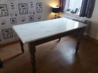Shabby chic dining table 4 chairs