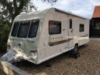 Bailey Unicorn Valencia 4 berth Fixed Bed caravan 2011
