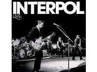 *INTERPOL ALEXANDRA PALACE LONDON STANDING - FRIDAY 1ST SEPTEMBER - *TICKETS IN HAND!*