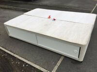 Double divan base with sliding drawers