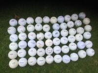 Branded golf balls in good condition 60 balls less than 9 pence each