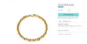 TIFFANY AND CO OVAL LINK BRACELET for men, authentic, BEAUTIFUL!