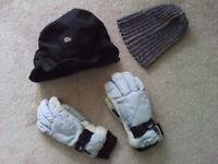 Ski gloves and ski hats