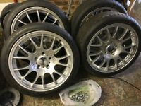 18 inch BMW Z3 but fits others motorsport alloy wheels and tyres new