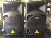 Pair of Behringer Eurolive Active loudspeakers B612D 1500w x 2 (3000w)