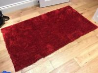 Warm red rug / carpet (brand new) ideal for living room and bedrooms (x2)